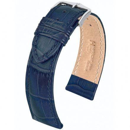 Niebieski pasek skórzany 20 mm HIRSCH Duke 01028080-2-20 (L)