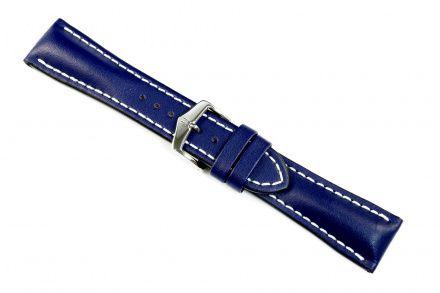 Niebieski pasek skórzany 24 mm HIRSCH Heavy Calf 01475080-2-24 (L)