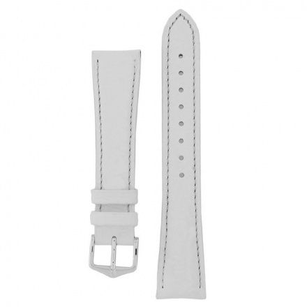 Biały pasek skórzany 18 mm HIRSCH Kansas 01502000-2-18 (L)