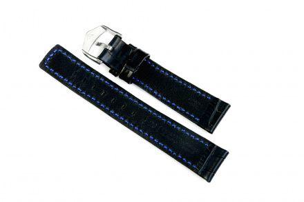 Czarny pasek skórzany 20 mm HIRSCH Grand Duke 02528050-2-20 (L)
