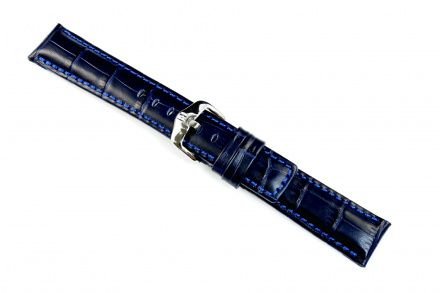Niebieski pasek skórzany 20 mm HIRSCH Grand Duke 02528080-2-20 (L)