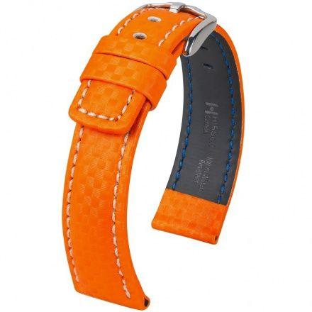 Pomarańczowy pasek skórzany 22 HIRSCH Carbon 02592076-2-22 (L)