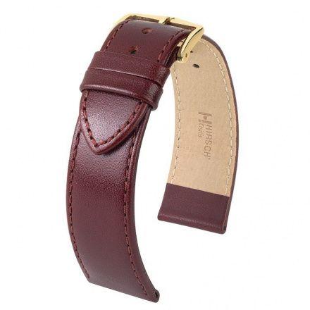 Bordowy pasek skórzany 18 mm HIRSCH Osiris 03475060-1-18 (L)