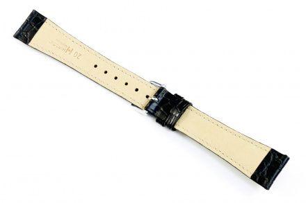 Czarny pasek skórzany 20 mm HIRSCH Aristocrat 03828050-2-20 (L)