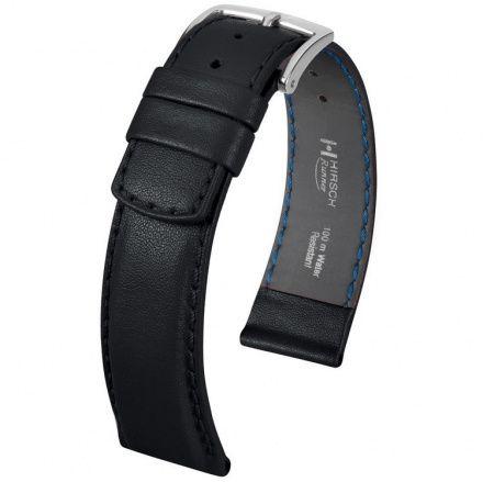 Czarny pasek skórzany 18 mm HIRSCH Runner 04002050-2-18 (L)