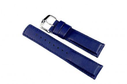 Niebieski pasek skórzany 22 mm HIRSCH Runner 04002080-2-22 (L)