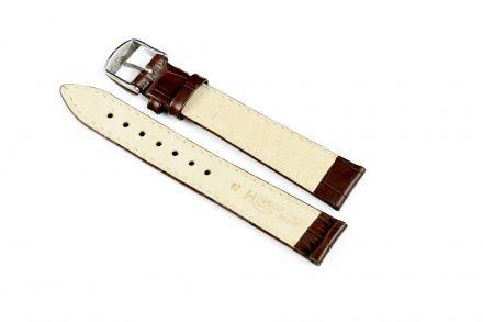 Brązowy pasek skórzany 18 mm HIRSCH Modena 10302810-2-18 (L)