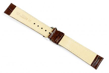 Brązowy pasek skórzany 20 mm HIRSCH Modena 10302810-2-20 (L)