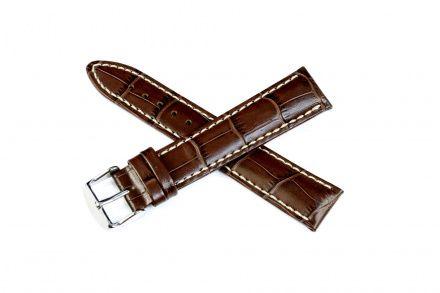 Brązowy pasek skórzany 24 mm HIRSCH Modena 10302810-2-24 (L)