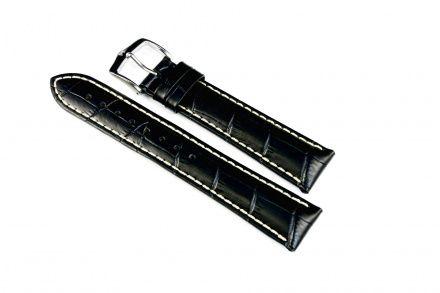 Czarny pasek skórzany 20 mm HIRSCH Modena 10302850-2-20 (L)