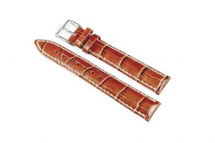 Jasnobrązowy pasek skórzany 18 mm HIRSCH Modena 10302870-2-18 (L)