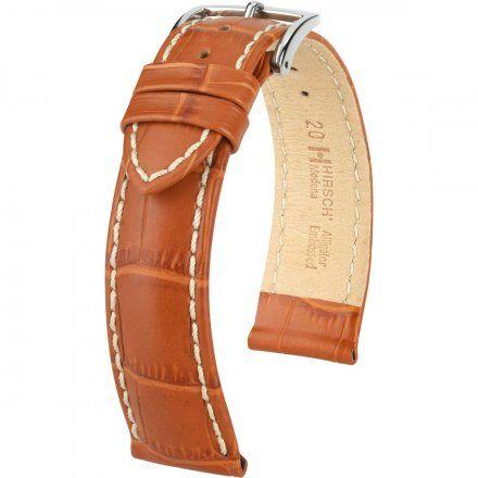 Miodowo-brązowy pasek skórzany 18 mm HIRSCH Modena 10302875-2-18 (L)