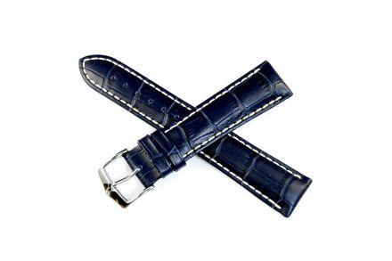 Niebieski pasek skórzany HIRSCH Modena 10302880-2-20 (L)