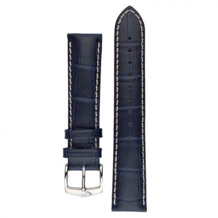 Niebieski pasek skórzany 24 mm HIRSCH Modena 10302880-2-24
