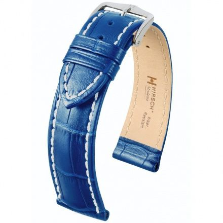 Błękitny pasek skórzany 20 mm HIRSCH Modena 10302885-2-20 (L)