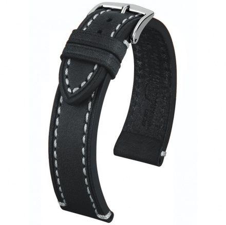 Czarny pasek skórzany 20 mm HIRSCH Liberty 10900250-2-20 (L)