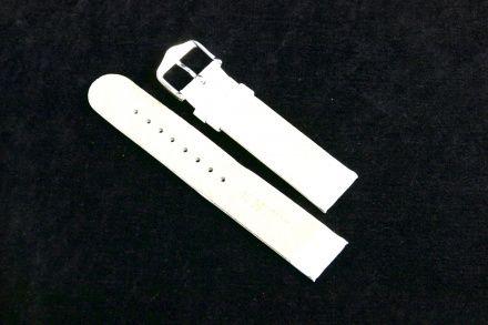 Biały pasek skórzany 18 mm HIRSCH Scandic 17852000-2-18 (M)