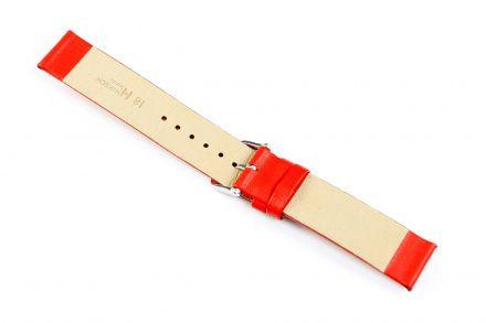 Czerwony pasek skórzany 18 mm HIRSCH Scandic 17852020-2-18 (M)