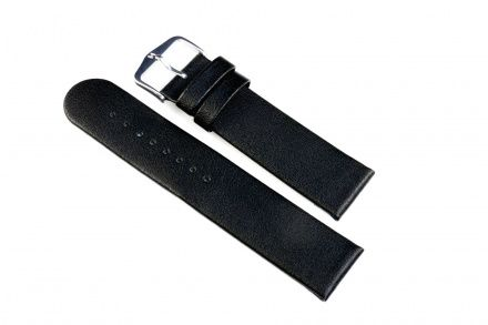 Czarny pasek skórzany 20 mm HIRSCH Scandic 17872050-2-20 (L)
