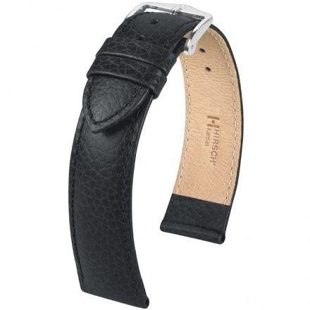 Czarny pasek  skórzany 20 mm HIRSCH Kansas 01502050-2-20 (L)