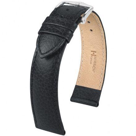 Czarny pasek skórzany 18 mm HIRSCH Kansas 01502250-2-18 (XL)