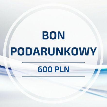 BON PODARUNKOWY o wartości 600 PLN