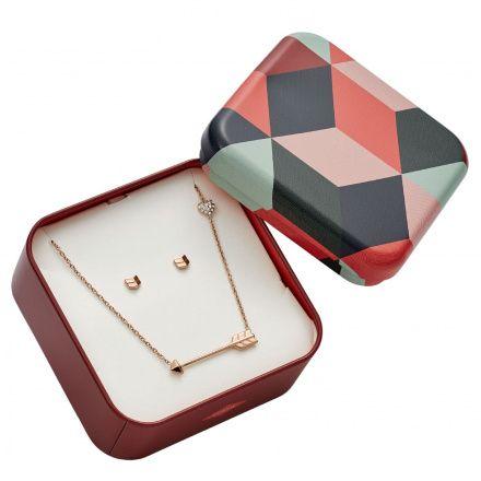 Biżuteria Fossil - Komplet JF02814791 Naszyjnik + Kolczyki - SALE -30%