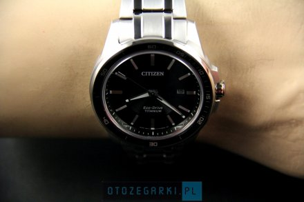 Citizen BM6920-51E Zegarek Męski na bransolecie Eco Drive Titanium