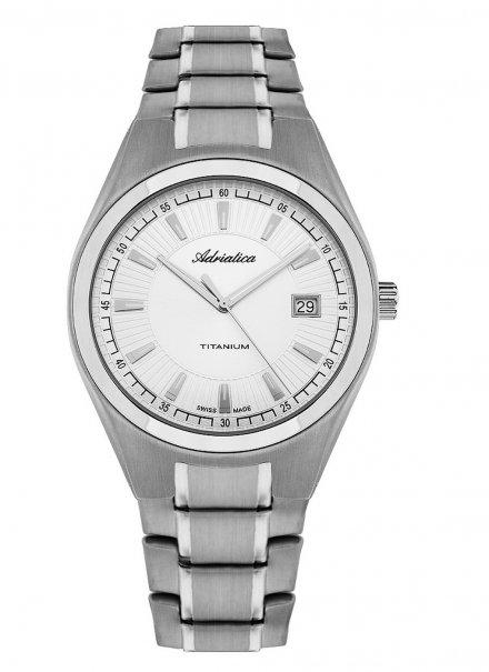 Zegarek Męski Adriatica na bransolecie A1137.4113Q - Zegarek Kwarcowy Swiss Made