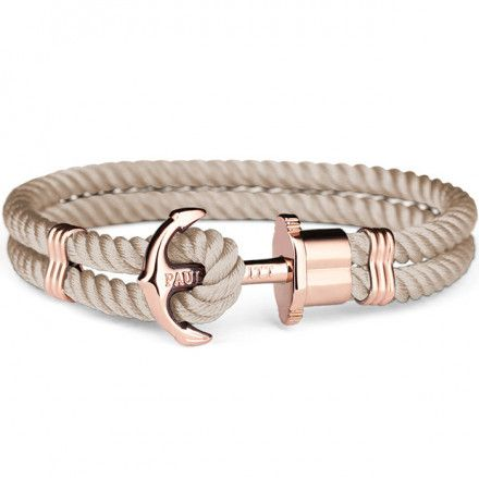 Bransoletka Paul Hewitt Phrep Nylon Rose Gold Hazelnut PH-PH-N-R-H