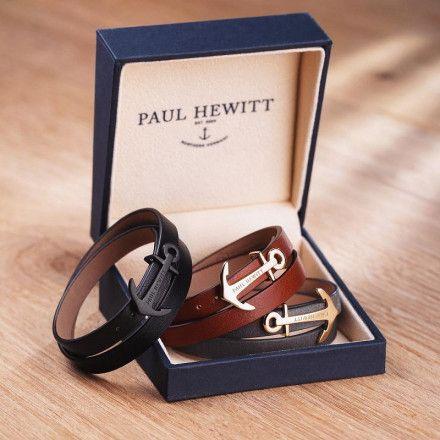 Bransoletka Paul Hewitt North Bound Gold Grey PH-WB-G-13
