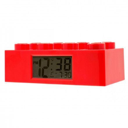9002168 Budzik LEGO Klocek Czerwony