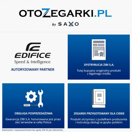 Zegarek Męski Casio EFR-556PC-2AVUEF Edifice EFR 556PC 2AVUEF