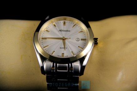 Zegarek Męski Adriatica na bransolecie A8202.2113Q - Zegarek Kwarcowy Swiss Made