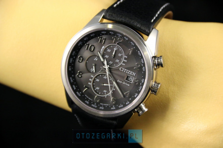Citizen AT8011-04E Zegarek Męski na pasku Eco Drive Radiocontrol