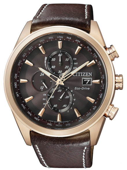 Citizen AT8019-02W Zegarek Męski na pasku Eco Drive Radiocontrol