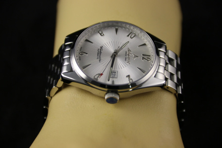 Zegarek Męski Atlantic Worldmaster Art Deco 51752.41.25Sm