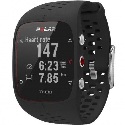POLAR M430 (M/L) Czarny zegarek do biegania z GPS