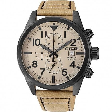 Citizen AN3625-07X Zegarek Męski na pasku Citizen Chrono