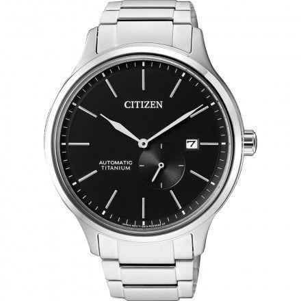 Citizen NJ0090-81E Zegarek Męski na bransolecie Titanium Automatic