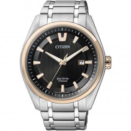 Citizen AW1244-56E Zegarek Męski na bransolecie Eco Drive Titanium