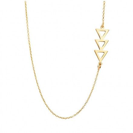Biżuteria damska INFINITY MANK0059 Naszyjnik srebrny pozłacany