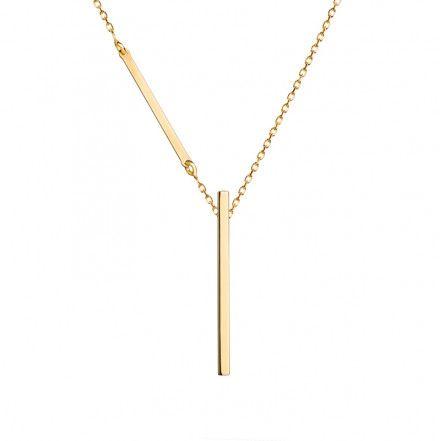 Biżuteria damska INFINITY BTNZ6014 Naszyjnik srebrny pozłacany