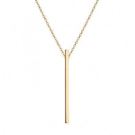 Biżuteria damska INFINITY BTNZ6012 Naszyjnik srebrny pozłacany