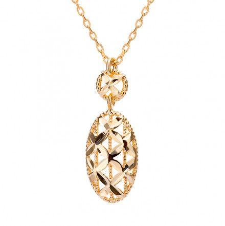 Biżuteria damska INFINITY BTNZ0050 Naszyjnik srebrny pozłacany