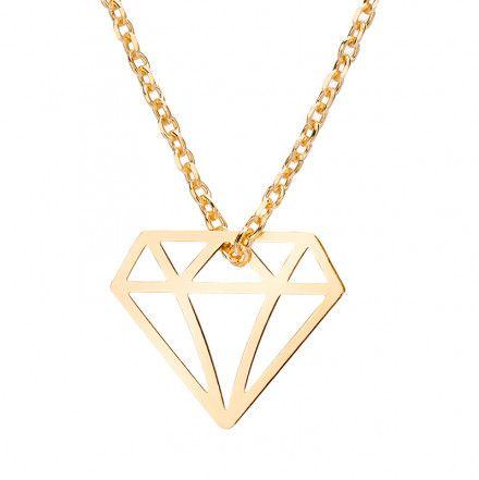 Biżuteria damska INFINITY BTNK0054 Naszyjnik srebrny pozłacany