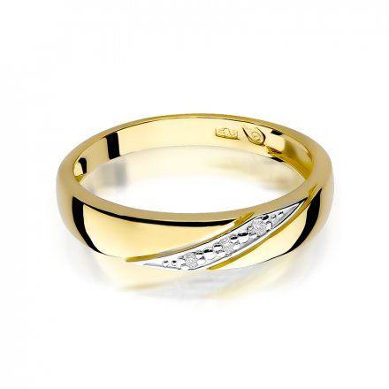 Biżuteria SAXO 14K Pierścionek z brylantami 0,02ct W-118 Złoty