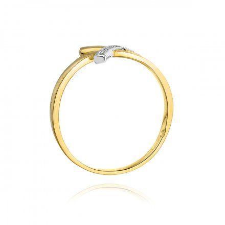 Biżuteria SAXO 14K Pierścionek z brylantami 0,02ct W-179 Złoty