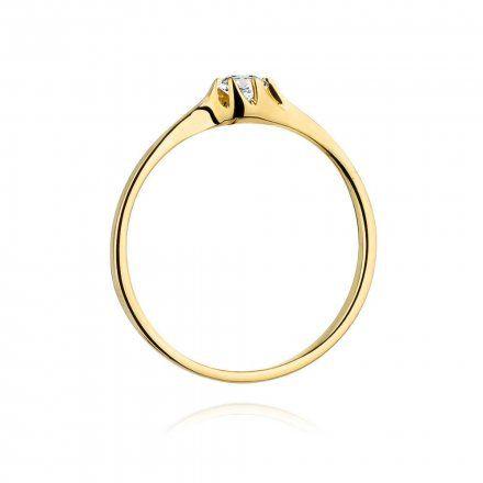 Biżuteria SAXO 14K Pierścionek z brylantem 0,09ct W-383 Złoty