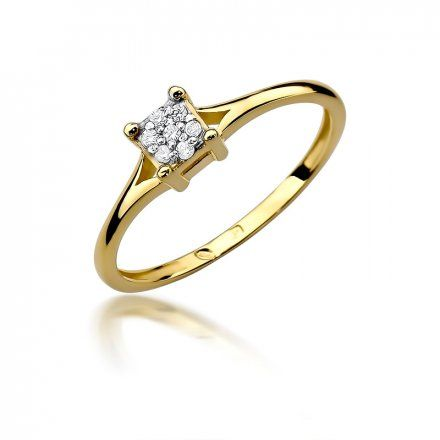 Biżuteria SAXO 14K Pierścionek z brylantami 0,06ct W-424 Złoty